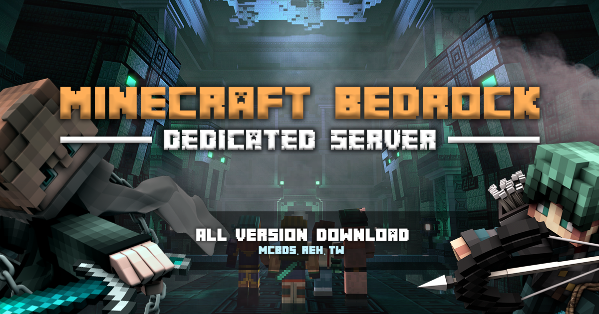 Minecraft Bedrock Dedicated Server (BDS) - All version download | Banner